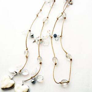 White and Silver Lariat