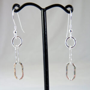 sterling silver flat oval earrings